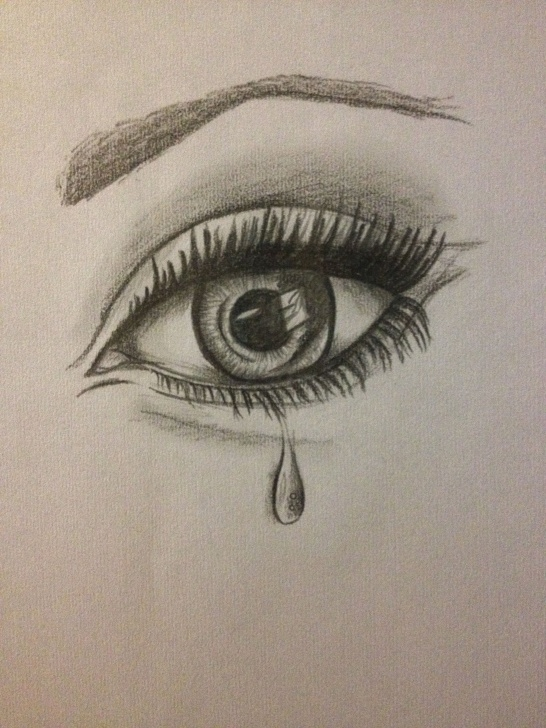 Stunning Emotional Pencil Drawings Lessons Eye #tear #drawing #emotion | Drawing In 2019 | Pencil Drawings, Eye Photo