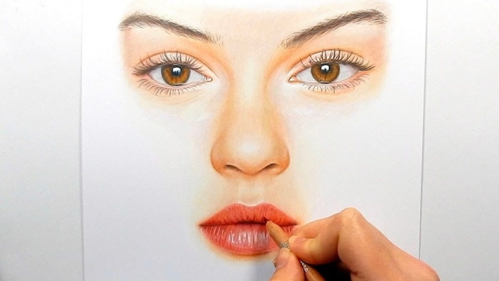 Stunning Faber Castell Polychromos Drawing Free Drawing Realistic Eyes, Nose And Lips With Faber Castell Polychromos Pictures