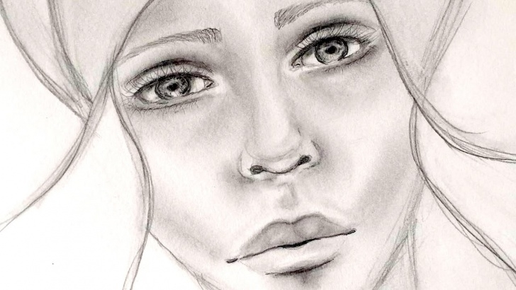 Face Pencil Drawing