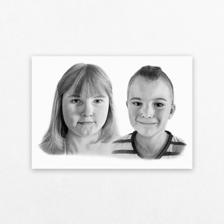 Stunning Family Pencil Sketch Tutorials Drawing From Photo, Family Portrait, Pencil Sketch, Custom Art, Gift For  Dad, Picture Into Art, Personalized Gift, Drawing Of Family Pics