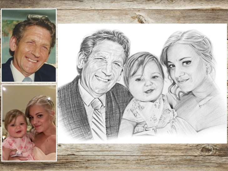 Stunning Family Sketches With Pencil Courses Family Portrait Drawing At Paintingvalley | Explore Collection Photo