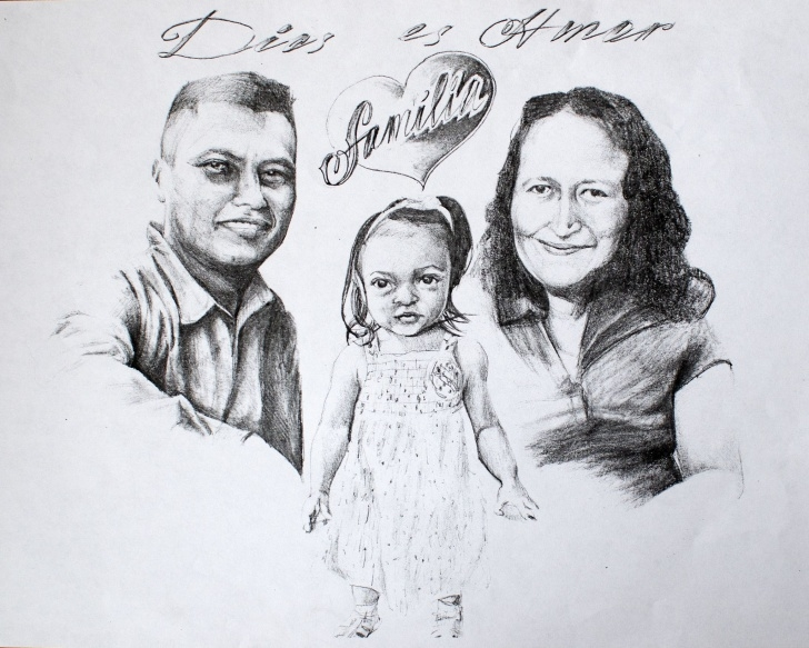 Stunning Family Sketches With Pencil Free Family Portrait, Pencil Drawing | My Art | Pencil Drawings, Drawings Pics
