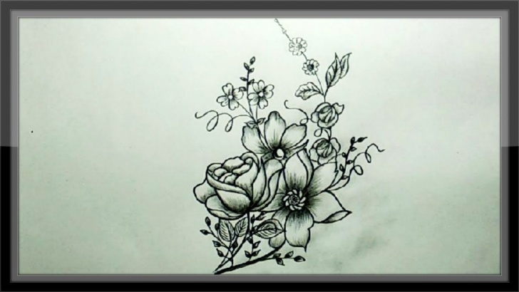 Stunning Flower Design Pencil Drawing Techniques Cool Easy Drawings - Pencil Drawing A Beautiful Flower Design Photo