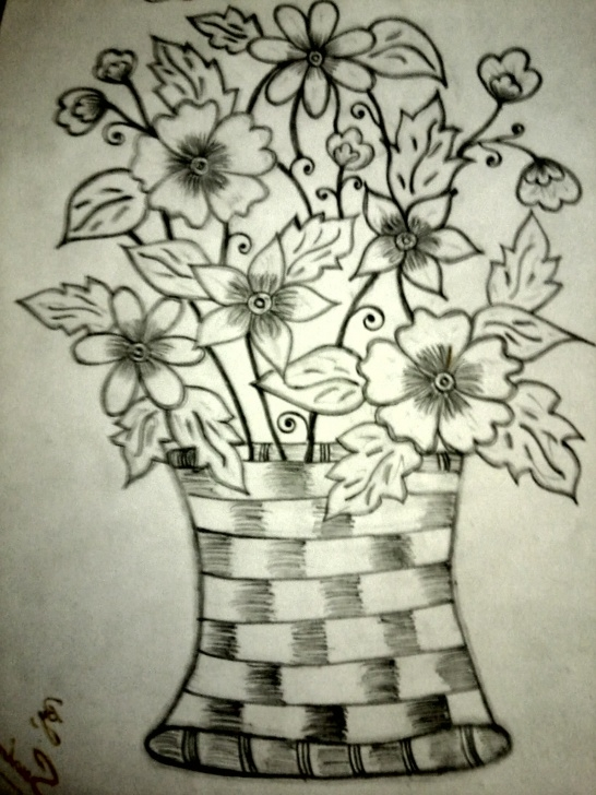 Stunning Flower Pot Pencil Shading for Beginners 9+ Splendid Flower Pot Drawing Shadings Collection - Flower Drawing Images