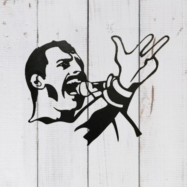 Stunning Freddie Mercury Stencil Art Courses Freddie Mercury Wall Art Pictures