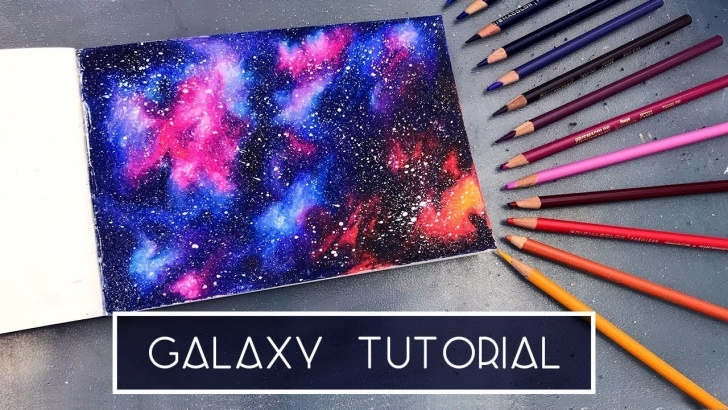Galaxy Drawings With Colored Pencils