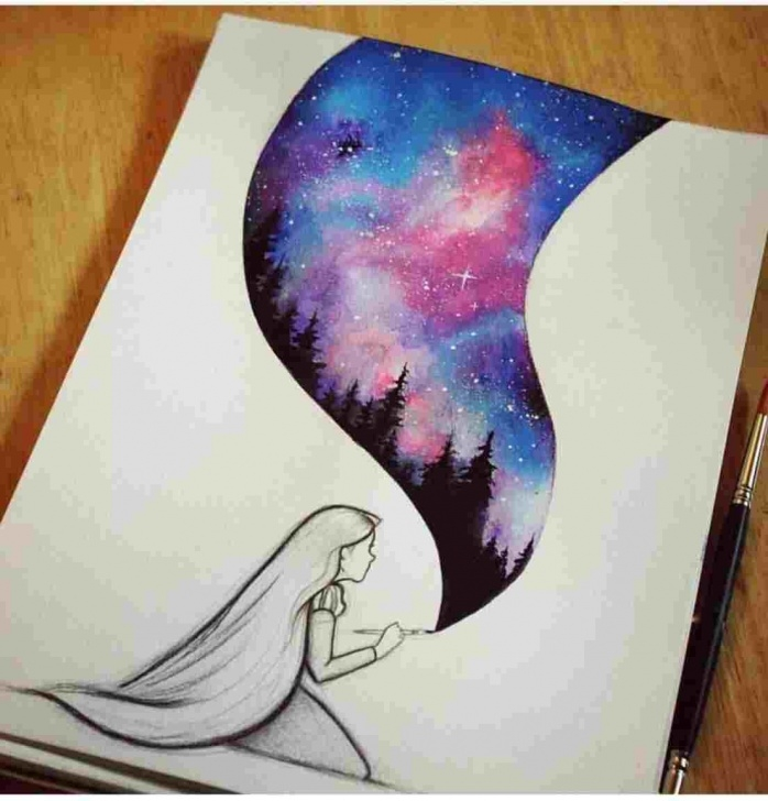 Stunning Galaxy Drawings With Colored Pencils Lessons How To Draw Galaxy Print With Colored Pencils - Gigantesdescalzos Pictures