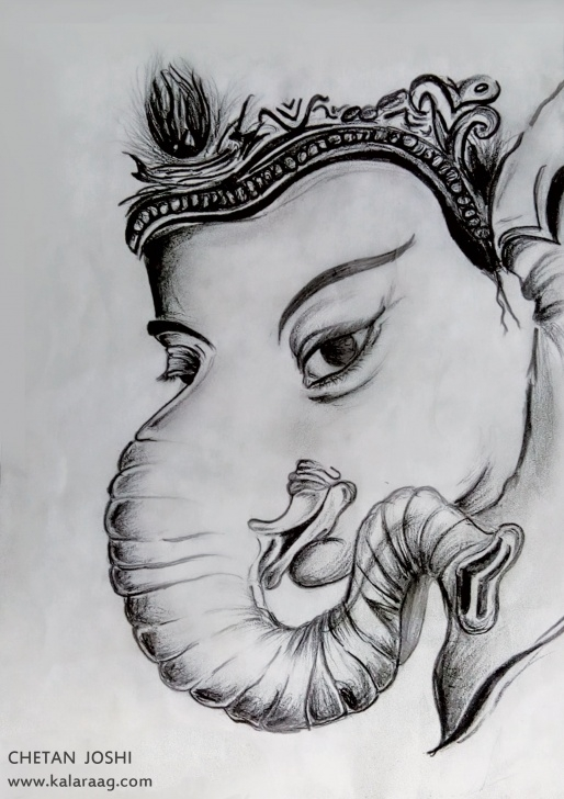 Stunning Ganpati Bappa Pencil Sketch Tutorials Ganesh Sketch Images At Paintingvalley | Explore Collection Of Image