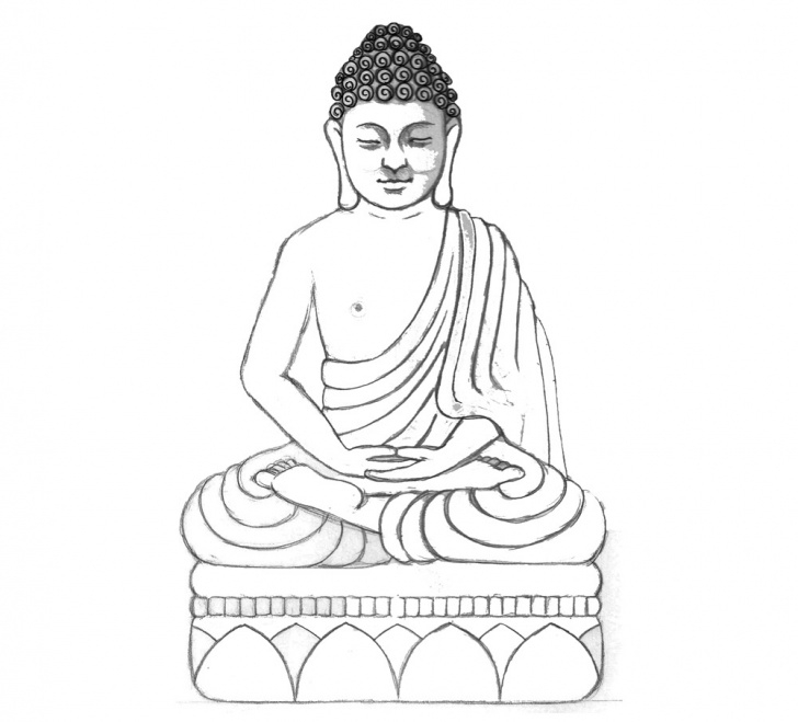 Stunning Gautam Buddha Pencil Drawing Ideas Buddha Sketch Drawing At Paintingvalley | Explore Collection Of Pictures