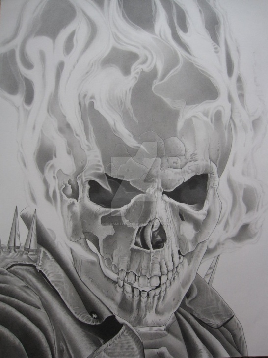 Stunning Ghost Pencil Drawing Easy The Ghost Rider By Corysmithart On Deviantart Pictures