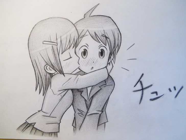 Girl And Boy Pencil Drawing