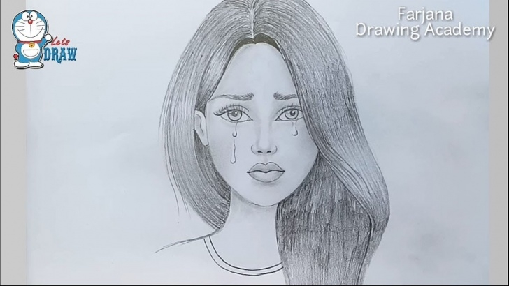 Girl Pencil Sketch Drawing