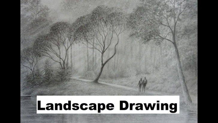 Stunning Graphite Landscape Drawings Tutorial How To Draw Landscapes, The Graphite Powder Technique. Picture