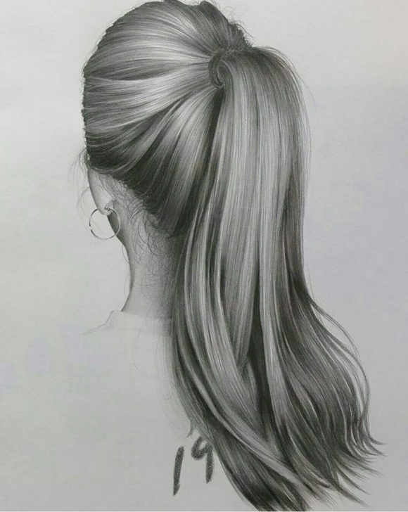 Stunning Hair Pencil Drawing Ideas Pin By Gabby C On Art | Pencil Drawings, How To Draw Hair, Realistic Photos