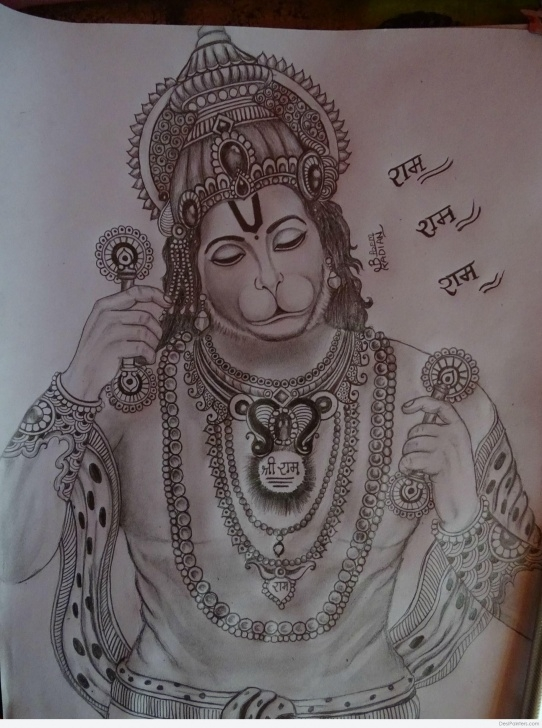 Stunning Hanuman Pencil Drawing Free Hanuman Sketch At Paintingvalley | Explore Collection Of Hanuman Pictures