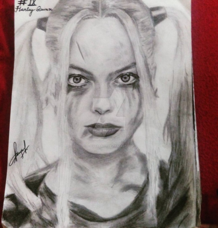 Stunning Harley Quinn Pencil Drawing for Beginners Harley Quinn(Suicide Squad) Pencil Sketch. By D-Divyansh10 On Deviantart Pic
