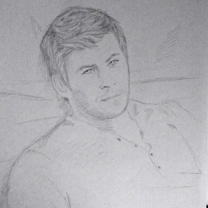 Stunning Hot Pencil Sketches Free Chris Hemsworth Drawing Sketch Pencil Hot Guy Beautiful | Men <3 Picture