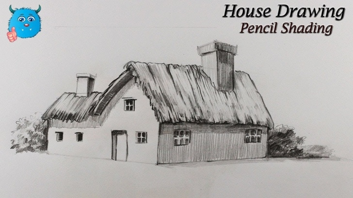 Stunning House Drawing Pencil Step by Step How To Draw House For Kids And Beginners With Pencil Shading Easy Picture