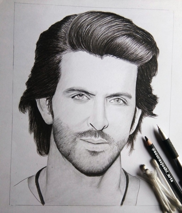 "Stunning Hrithik Roshan Pencil Sketch Simple Souravjoshi Arts On Twitter: ""#finalwork @ihrithik Graphite Pencils Photos"