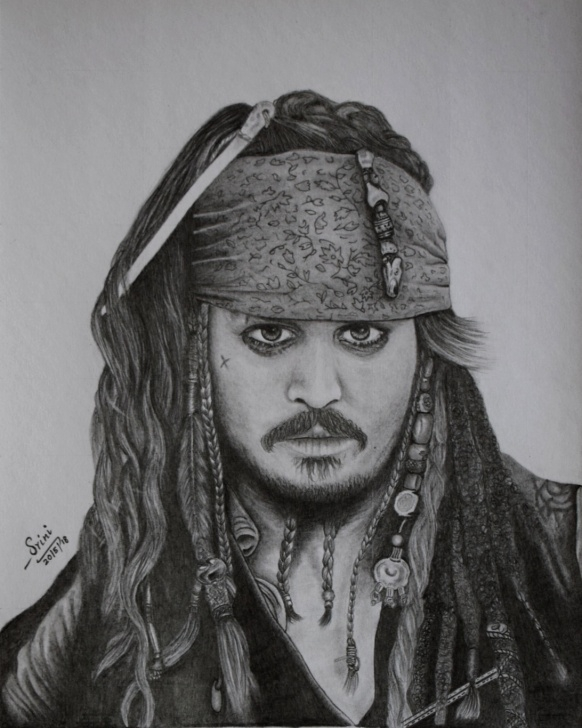 Jack Sparrow Pencil Sketch