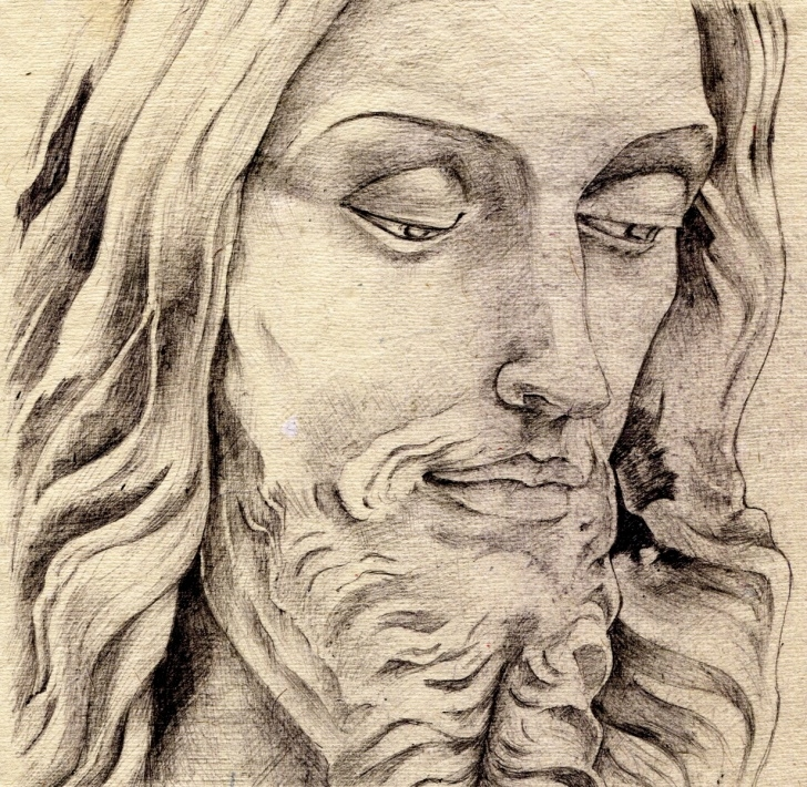 Stunning Jesus Painter Pencil Drawings Tutorial Pencil Drawings: Colored Pencil Drawings Of Jesus Picture