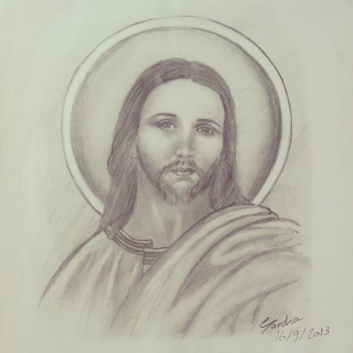 Stunning Jesus Pencil Art Free Jesus Christ Pencil Sketch | Art With Pencils ! | Sketches, Drawings Photo