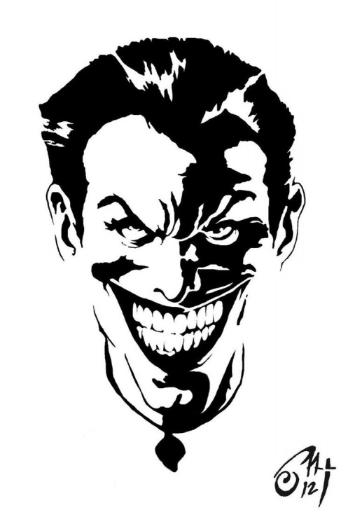 Stunning Joker Stencil Art Techniques for Beginners Stencil Pulp Fiction - Buscar Con Google | Person Template | Joker Images