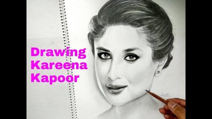 Stunning Kareena Kapoor Sketch Techniques Drawing Kareena Kapoor Pictures