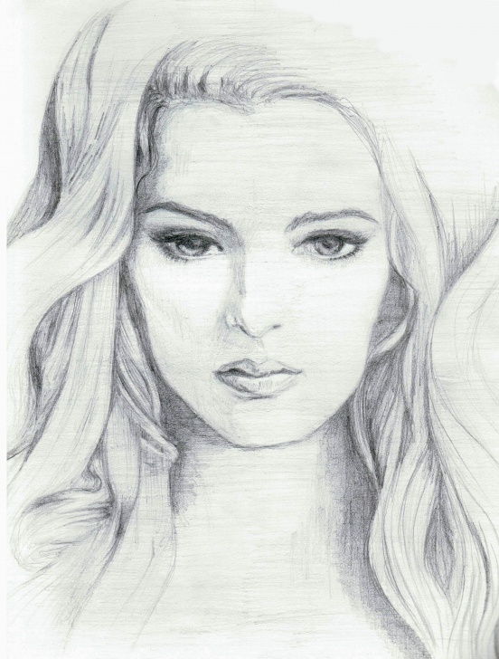 Stunning Lady Pencil Sketch Step by Step Lady Face Sketch At Paintingvalley | Explore Collection Of Lady Photo
