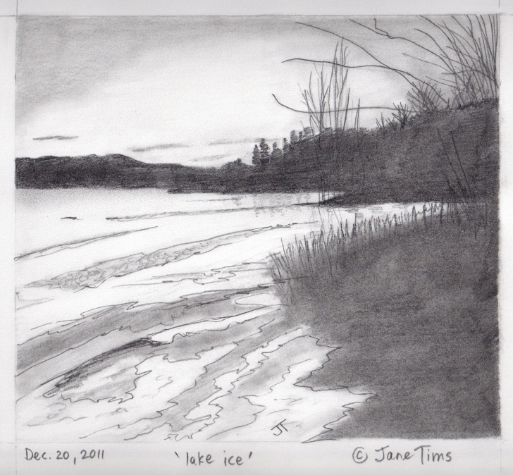 Stunning Lake Pencil Drawing Simple Lake Pencil Drawing At Paintingvalley | Explore Collection Of Picture
