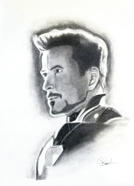 "Stunning Man Pencil Drawing Easy Vishu Porwal On Twitter: ""pencil Sketch Of @robertdowneyjr As Iron Pics"
