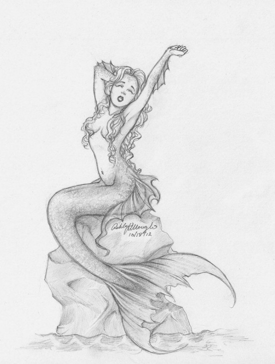 Stunning Mermaid Pencil Sketch Lessons Pencil Mermaid By ~Kieraghearts On Deviantart | Art In 2019 Pics