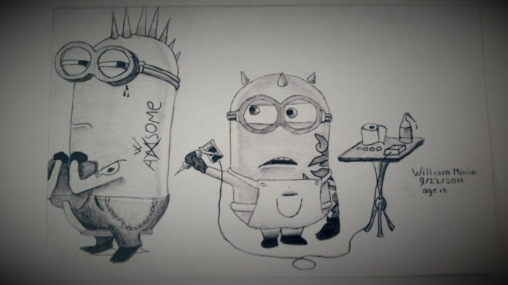 Stunning Minion Pencil Sketch Courses Minion Sketches | Minions Pencil Drawing By Dubz002 On Deviantart Picture