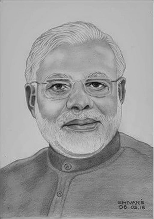 Stunning Modi Pencil Sketch Ideas Narendra Modi - Prime Minister Of India| Sketch | Artoreal Image