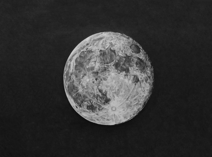 Stunning Moon Pencil Drawing Free Sourcewing: Realistic Pencil Drawing Of A Full Moon Pic