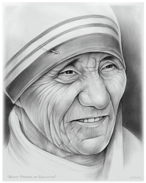 Mother Teresa Pencil Sketch