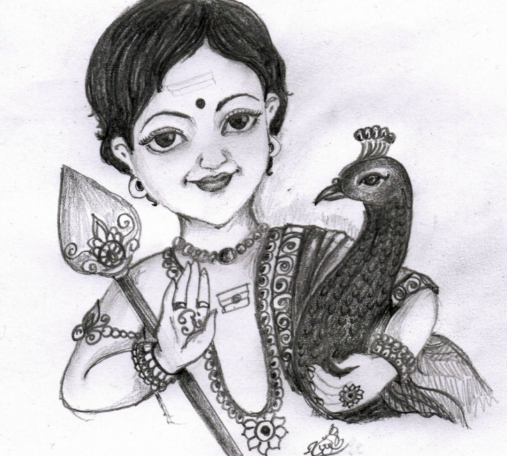 Stunning Murugan Pencil Drawing Techniques Pencil Drawing Of Sree Muruga .. Sweet | My Cute Crafts | Pencil Picture