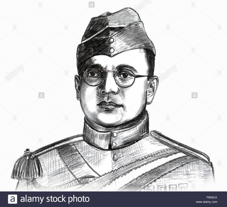 Stunning Netaji Subhas Chandra Bose Pencil Sketch for Beginners Netaji Subhash Chandra Bose Sketch Stock Photos & Netaji Subhash Image