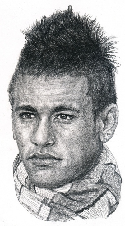 Stunning Neymar Pencil Drawing Techniques for Beginners Brazilian Soccer Player Neymar ©Drawing By Marcelo F De Abreu | Art Photos