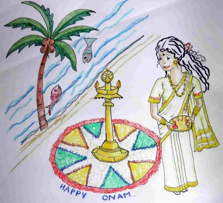 Onam Pencil Drawings