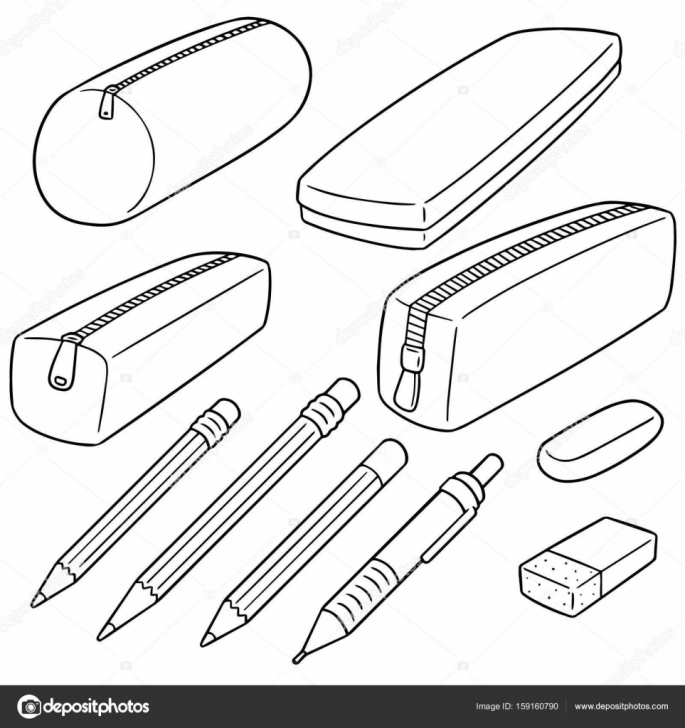Stunning Pencil Case Drawing Lessons Vector Set Of Pencil Case — Stock Vector © Ourlifelooklikeballoon Photos