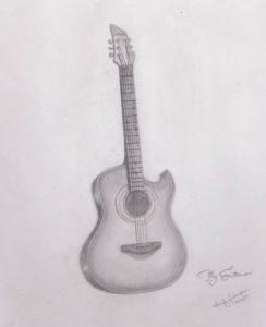 Stunning Pencil Drawing Guitar Courses Pin By Nirmala Meti On Nilu | Guitar Drawing, Drawings, Art Sketches Pic
