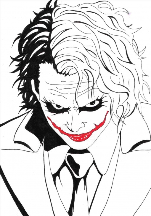 Stunning Pencil Drawing Of Joker Tutorial Simple Joker Drawing At Paintingvalley | Explore Collection Of Image