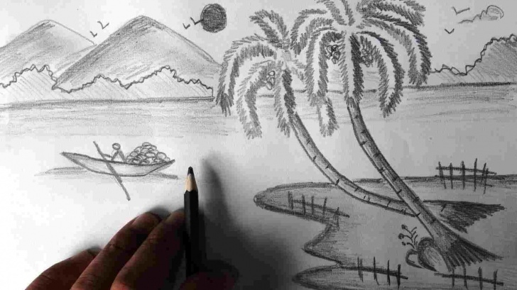 Stunning Pencil Drawing Of Nature Beauty Courses Beautiful Easy Nature Pencil Drawings Photos