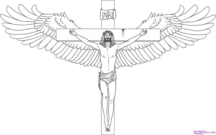 Stunning Pencil Drawings Of Jesus On The Cross Ideas Sketch Drawing Of Cross | How To Draw Jesus On The Cross Step 6 Images