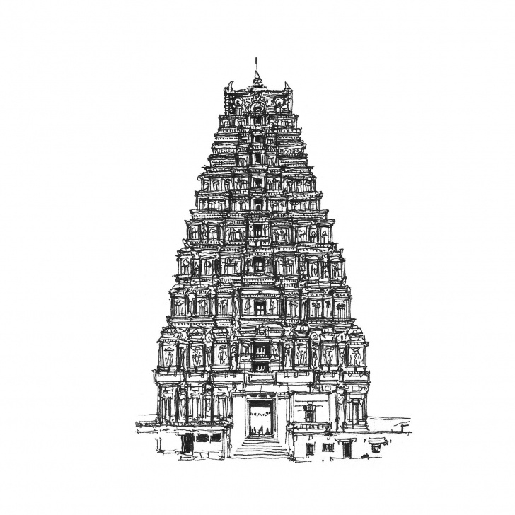 Stunning Pencil Drawings Temple Courses Temple Architecture Drawings More Landmark Drawings | S | Temple Photo
