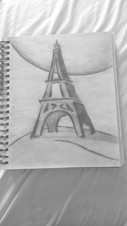 Stunning Pencil Shading Drawing For Beginners Free Finally Made That Drawing Of The #eiffeltower #paris #drawing Image