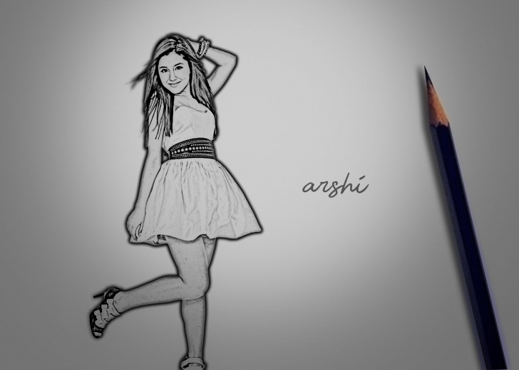 Pencil Sketch Of Dancing Girl