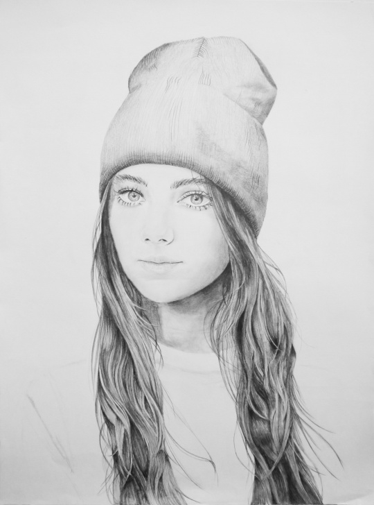 Stunning Pencil Sketch Of Girl Simple Girl Pencil Sketch : Drawing Picture