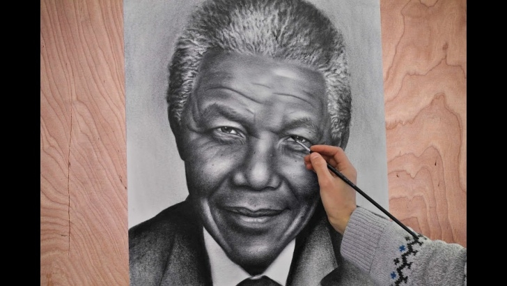 Stunning Pencil Sketch Of Nelson Mandela Ideas Nelson Mandela Portrait Speed Drawing Painting Photorealism. How To Draw A  Portrait. Photos